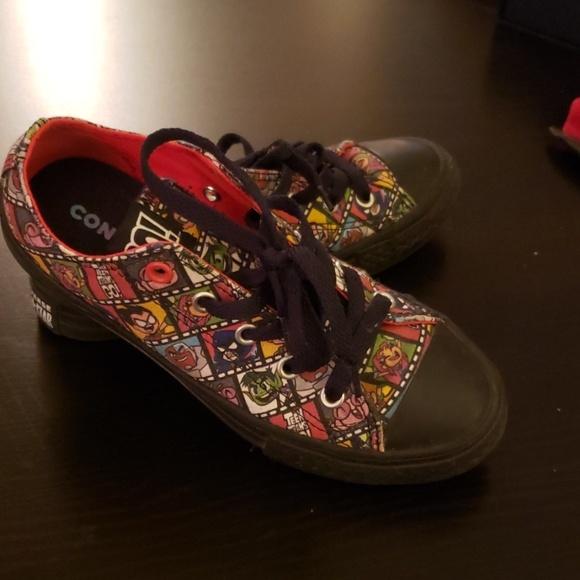 e51b6dbb1e Converse Shoes | Chuck Taylors Teen Titans Go Kids Size 1 | Poshmark